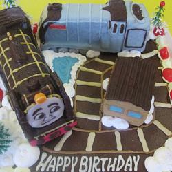 トーマスの仲間ヒロとスペンサーのケーキ