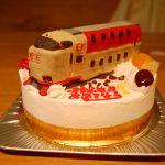 寝台特急「サンライズ」電車立体ケーキ