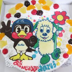 ワンワンとつば九郎ケーキ