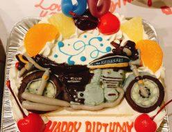 バイク立体ケーキ