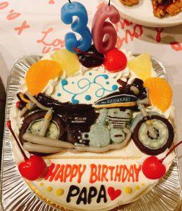 バイク(カワサキZ1)立体ケーキ