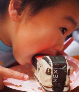成田エクスプレス電車立体ケーキ