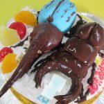 ヘラクレスオオカブトとクワガタ立体ケーキ