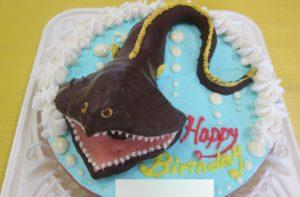 深海魚「フクロウナギ」立体ケーキ