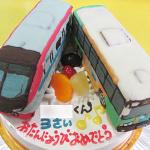 都営バスと京王ライナー電車立体ケーキ