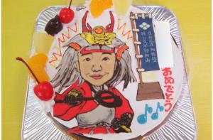 武田信玄なりきり似顔絵ケーキ