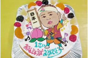 桃太郎一才似顔絵ケーキ