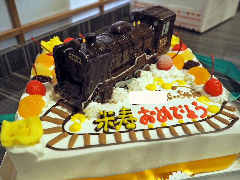 SL蒸気機関車立体ケーキ