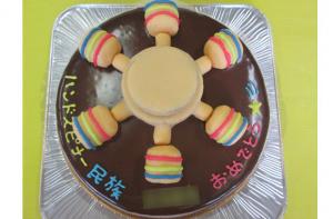 ハンドスピナー立体ケーキ