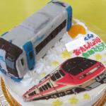 ミュースカイとパノラマスーパー電車ケーキ