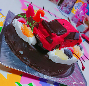 三菱ランサーエボリューション立体ケーキ