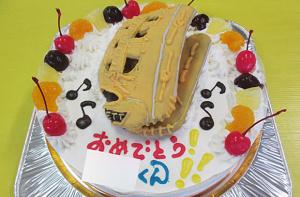 野球グローブ立体ケーキ