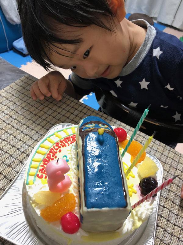 チャギントンのハンゾーの立体ケーキ