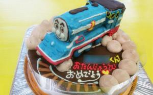 流線型トーマス立体ケーキ