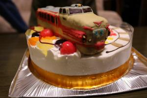 特急とき電車立体ケーキ