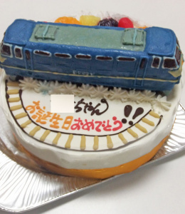 国鉄EF66形電気機関車の立体ケーキ