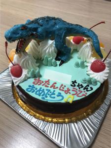 ティラノサウルスケーキ