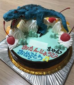 ティラノサウルス立体ケーキ