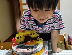 クレーン車立体ケーキ
