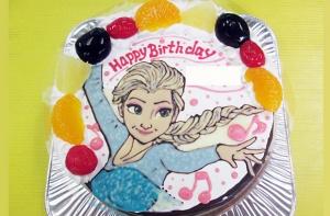 エルサイラストケーキ