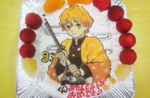 鬼滅の刃の『我妻善逸』ケーキ