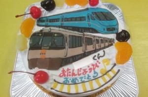 小田急ロマンスカーとEXE電車ケーキ