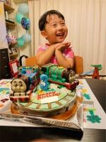 トーマスとパーシーの立体ケーキ