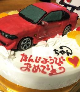 日産S15シルビア車立体ケーキ