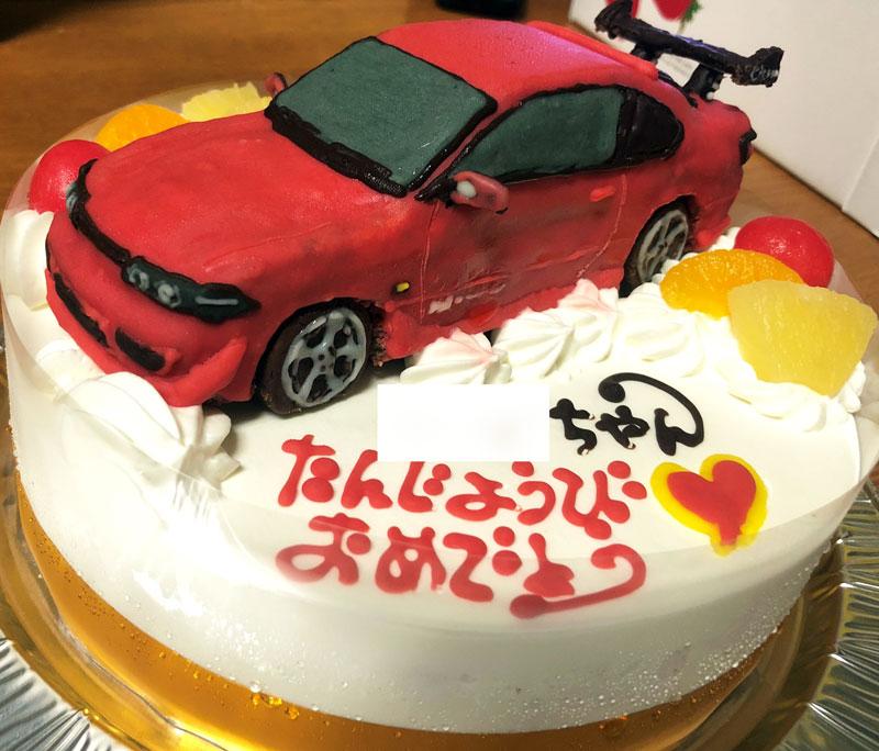 日産シルビア車立体ケーキ