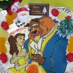 美女と野獣ケーキ