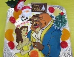 美女と野獣イラストケーキ