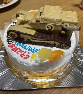戦車立体ケーキ