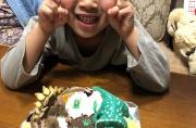 ステゴサウルスとトリケラトプス恐竜ケーキ