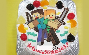 Minecraft (マインクラフト) ケーキ