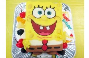 スポンジボブケーキ