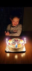 鬼滅の刃のイラストケーキ