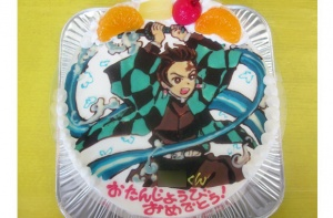 鬼滅の刃の炭治郎ケーキ