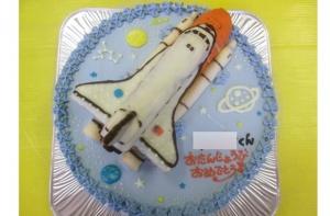 スペースシャトル立体ケーキ