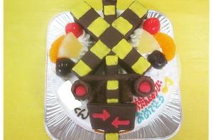 踏切立体ケーキ