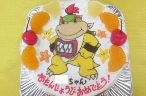 クッパJr.(ジュニア)のイラストケーキ