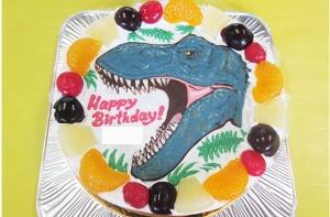 ティラノサウルス顔イラストケーキ
