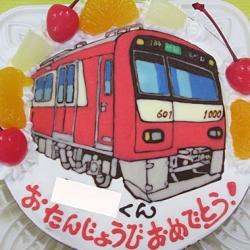 京急電車ケーキ