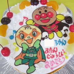 アンパンマンとメロンパンナちゃんケーキ