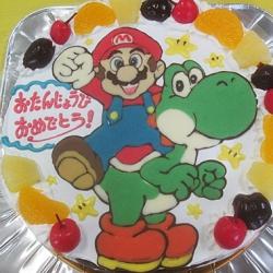 マリオとヨッシーのケーキ